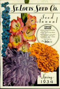a color illustration of the St. Louis Seed Co. Catalog 1934