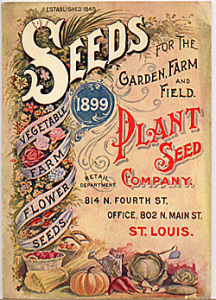 a color image of the cover of the 1899 Plant Seed Company Catalog