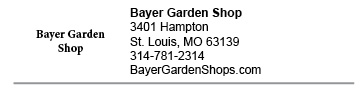 Bayer Garden Shop City link