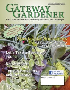 An image of the Gateway Gardener July/Aug 2017 cover