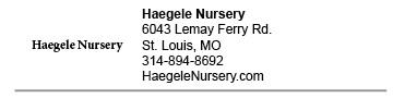 Haegele Nursery link
