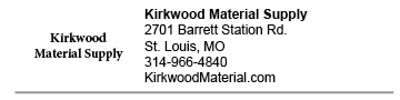 Kirkwood Material Supply Barrett Station link