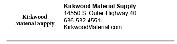 Kirkwood Material Supply Chesterfield link