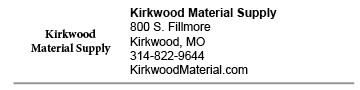 Kirkwood Material Supply Kirkwood link