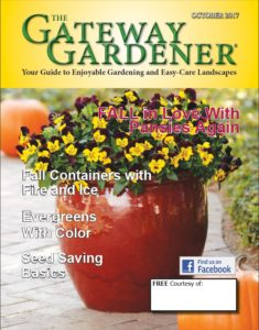 The cover image of The Gateway Gardener October 2017 issue.