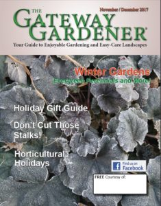 An image of the cover of The Gateway Gardener November/December 2017 issue