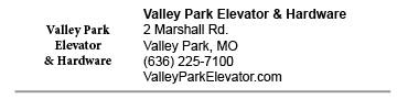 Valley Park Elevator link